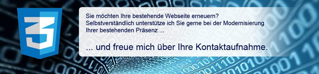 Modernisierung  einer Homepage | Siegmund Webdesign | Reutlingen & Pfullingen