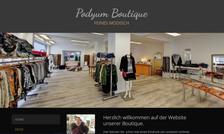 Website | Podyum Boutique Reutlingen