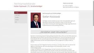 Website Rechtsanwaltskanzlei Stefan Koslowski
