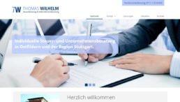 Website - Steuerberatung Wilhelm