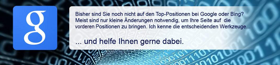 Suchmaschinenoptimierung  einer Homepage | Siegmund Webdesign | Reutlingen & Pfullingen
