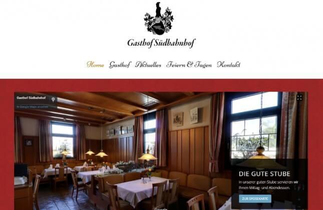 Website - Gasthof Südbahnhof Pfullingen