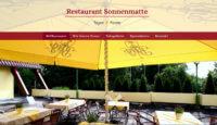 Webdesign für Restaurant Sonnenmatte