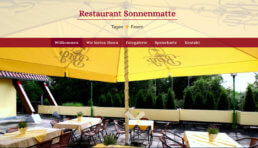 Website - Restaurant Sonnenmatte