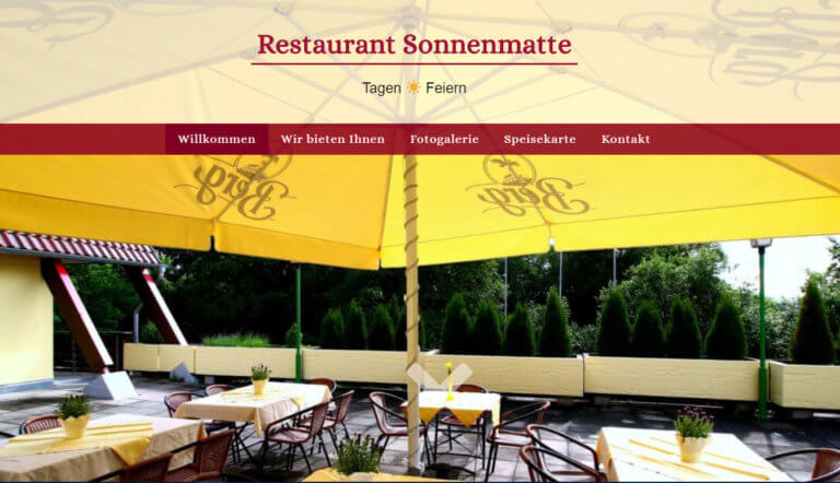 Website | Restaurant Sonnenmatte
