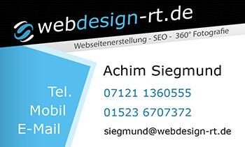 Siegmund Webdesign RT - Visitenkarte