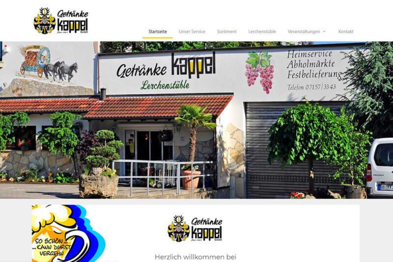 Getränke Kappel - Website erstellen
