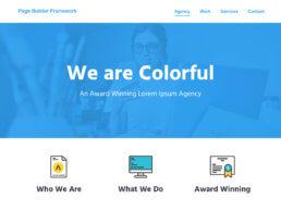 Wordpress Theme - Page Builder Framework