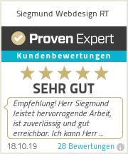 Siegmund Webdesign Reutlingen - Bewertungen