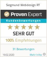 ProvenExpert - Bewertung für Siegmund Webdesign RT - Sehr gut