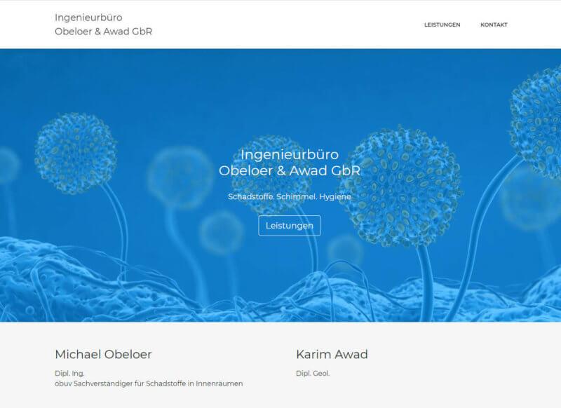 Website - günstig erstellt für die Obeloer Awad GmbH